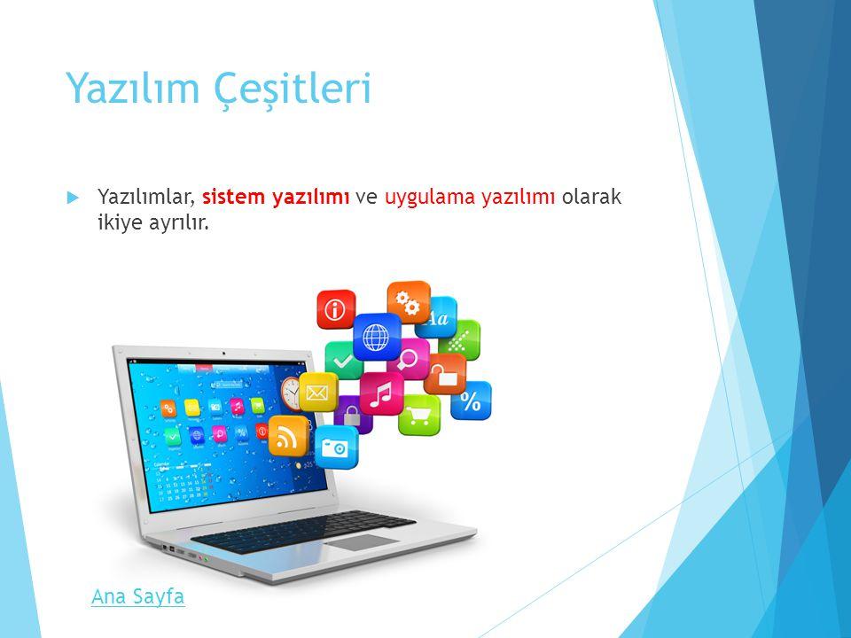 Sistem Yazılımı  İşletim sistemi olarak da bilinir.
