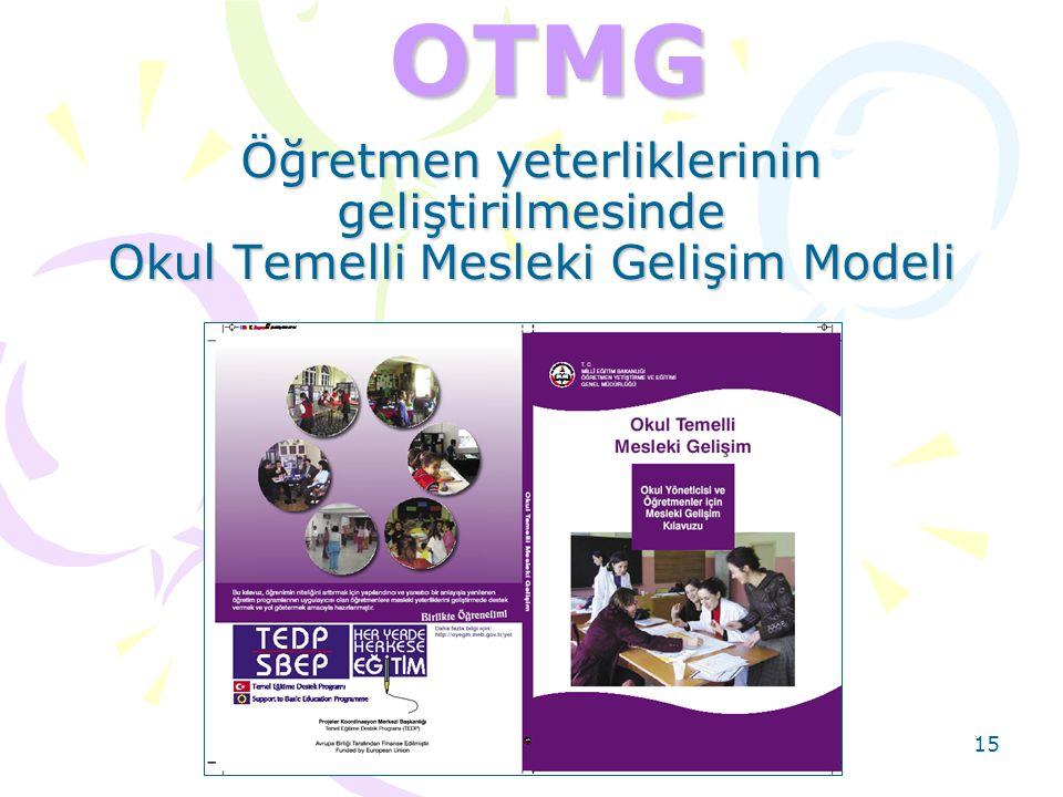 15OTMG Öğretmen yeterliklerinin geliştirilmesinde Okul Temelli Mesleki Gelişim Modeli