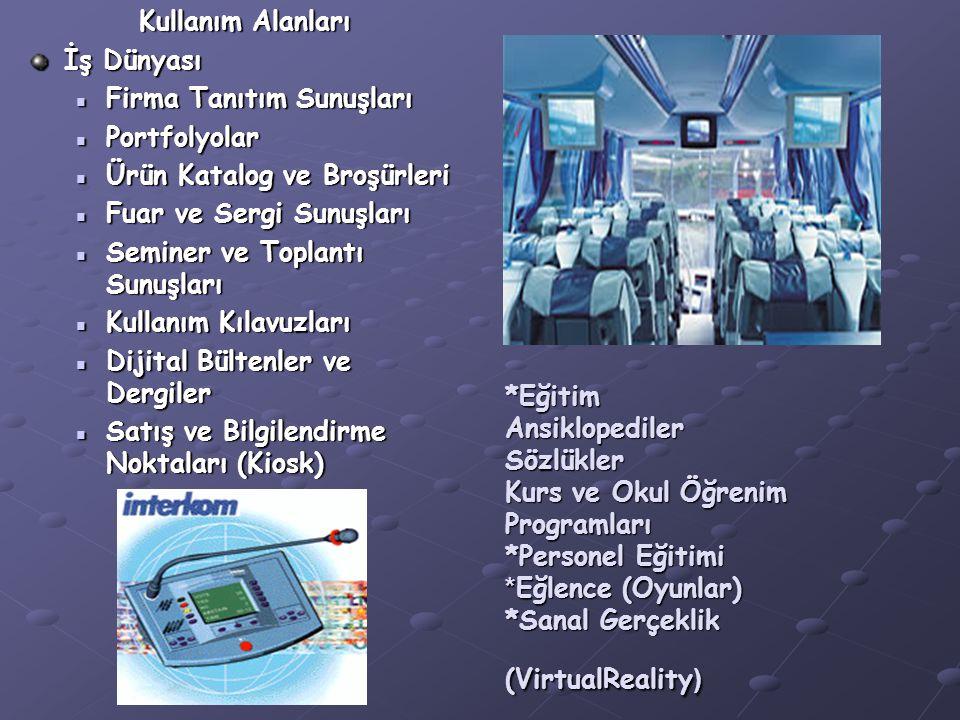 *Eğitim Ansiklopediler Sözlükler Kurs ve Okul Öğrenim Programları *Personel Eğitimi * Eğlence (Oyunlar) *Sanal Gerçeklik (VirtualReality ) Kullanım Alanları İş Dünyası Firma Tanıtım Sunuşları Firma Tanıtım Sunuşları Portfolyolar Portfolyolar Ürün Katalog ve Broşürleri Ürün Katalog ve Broşürleri Fuar ve Sergi Sunuşları Fuar ve Sergi Sunuşları Seminer ve Toplantı Sunuşları Seminer ve Toplantı Sunuşları Kullanım Kılavuzları Kullanım Kılavuzları Dijital Bültenler ve Dergiler Dijital Bültenler ve Dergiler Satış ve Bilgilendirme Noktaları (Kiosk) Satış ve Bilgilendirme Noktaları (Kiosk)