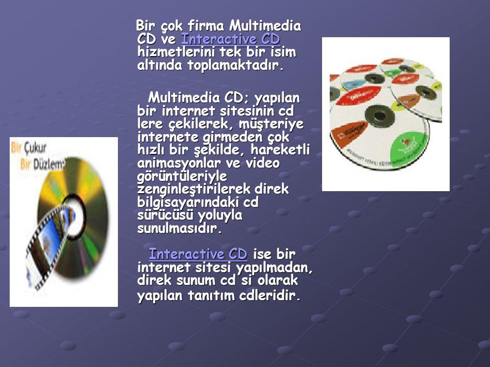 Bir çok firma Multimedia CD ve Interactive CD hizmetlerini tek bir isim altında toplamaktadır. Bir çok firma Multimedia CD ve Interactive CD hizmetler