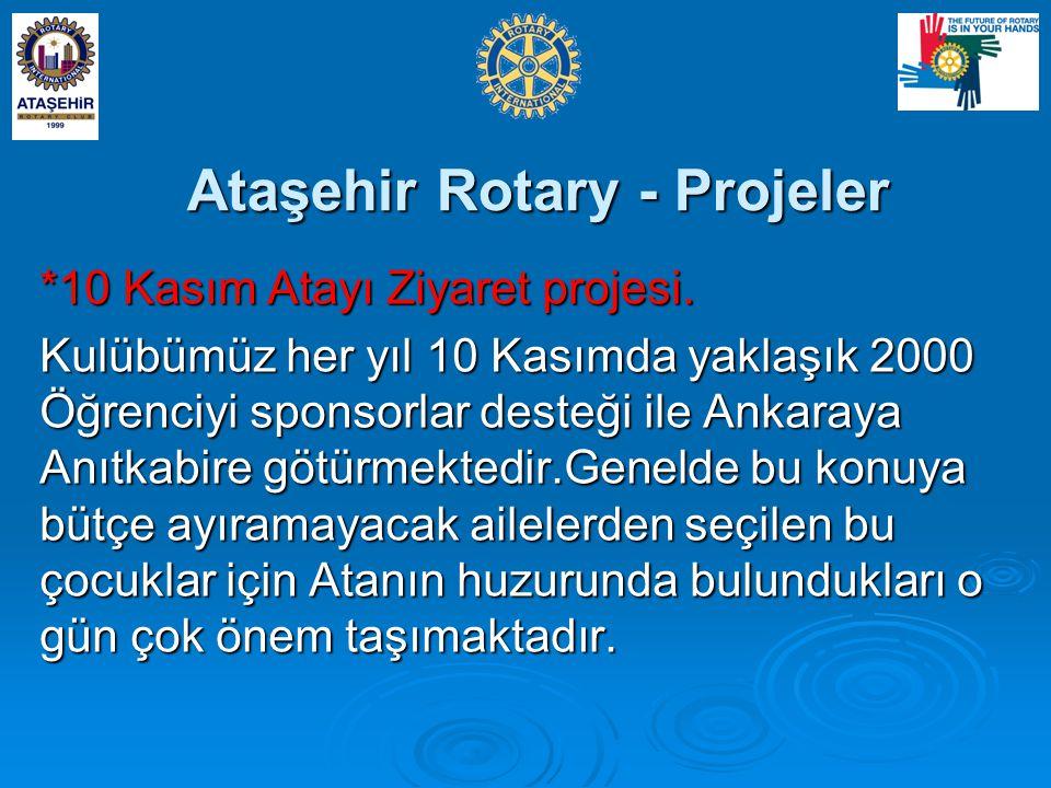 Ataşehir Rotary - Projeler *10 Kasım Atayı Ziyaret projesi.
