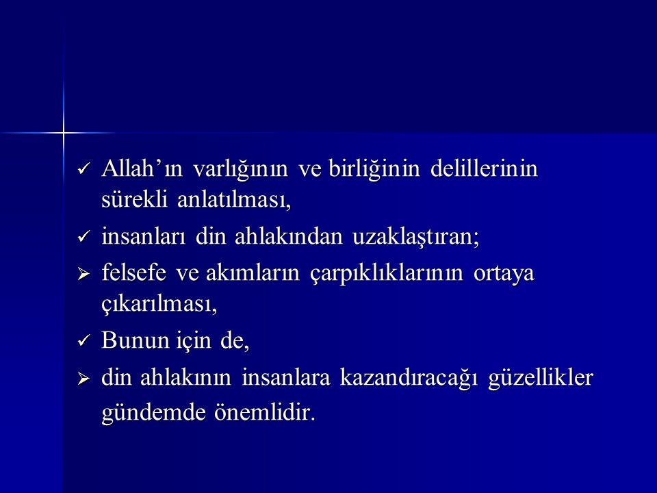Allah'ın varlığının ve birliğinin delillerinin sürekli anlatılması, Allah'ın varlığının ve birliğinin delillerinin sürekli anlatılması, insanları din