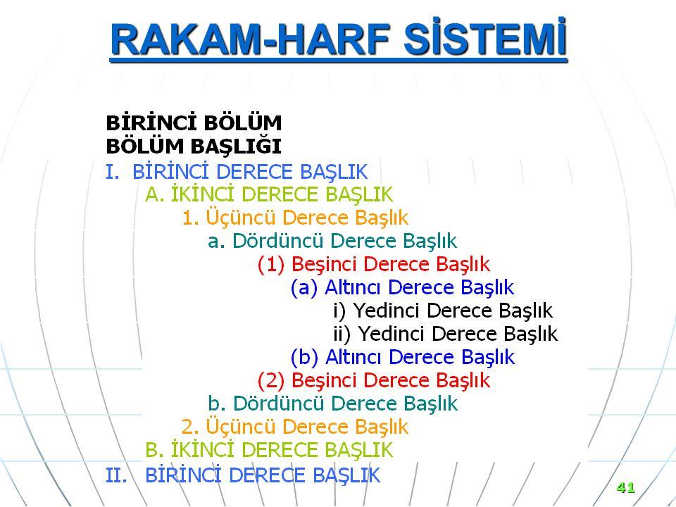 RAKAM-HARF SİSTEMİ 41