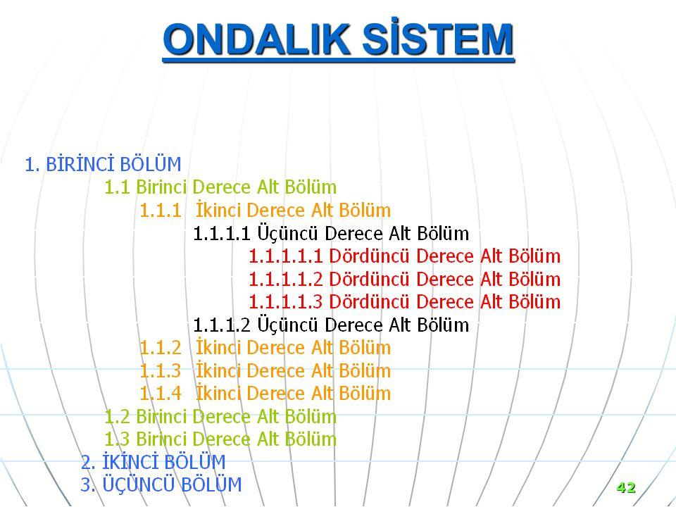 ONDALIK SİSTEM 42