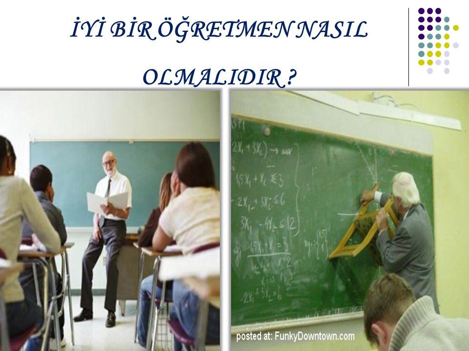 Öğretmen öğretimi tasarlama bilgisine sahip olmalıdır.