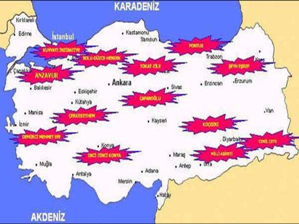 Ayaklanmalara Karşı Alınan Önlemler 1.Hıyanet-i Vataniye Kanunu çıkarıldı.