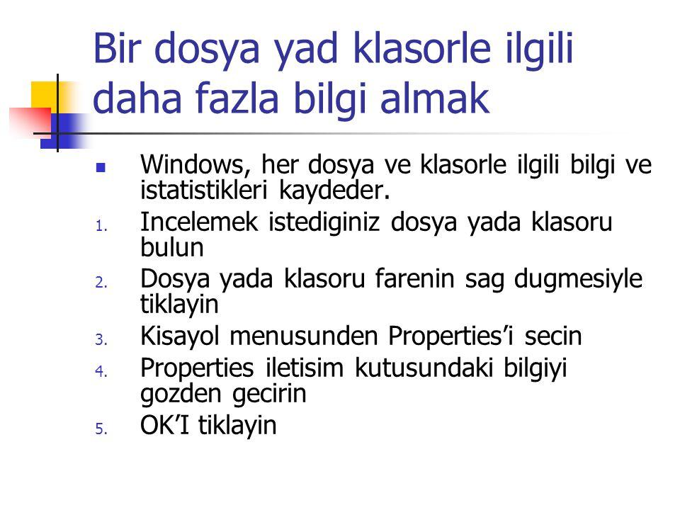 Bir dosya yad klasorle ilgili daha fazla bilgi almak Windows, her dosya ve klasorle ilgili bilgi ve istatistikleri kaydeder.
