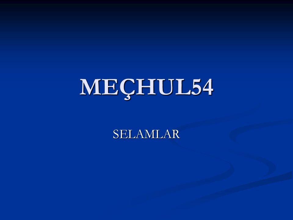 MEÇHUL54 SELAMLAR