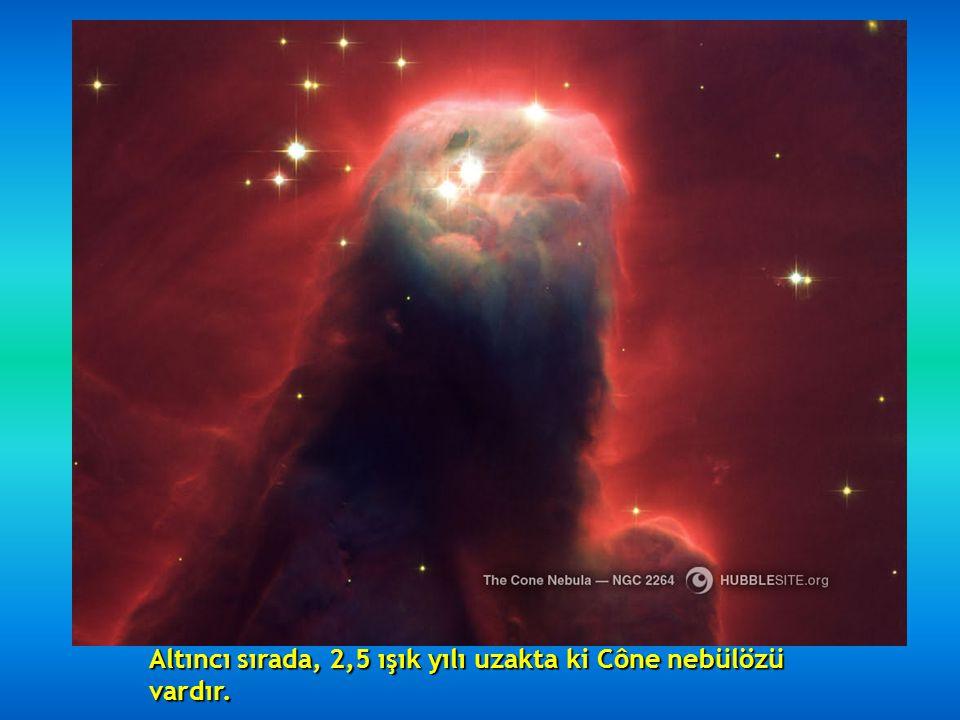 Beşinci sırada, Hourglass nebülözü olup, 8000 ışık yılı uzaktadır, orta kısmında ki daralma nedeniyle çok güzel bir nebülözdür.