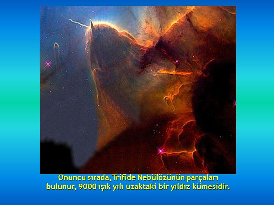 Dokuzuncu sırada, çevrinti halinde ki, NGC 2207 ve IC 2163 Galaksileri bulunur, 114 milyon ışık yılı uzaktadırlar.