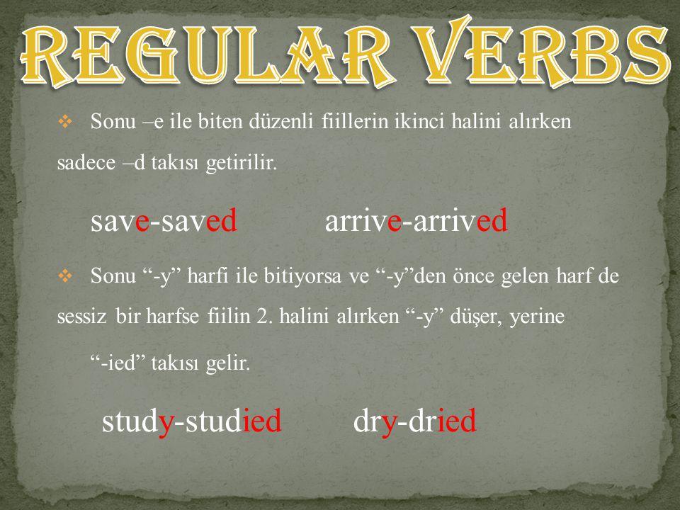VERB 2 OR VERB ed