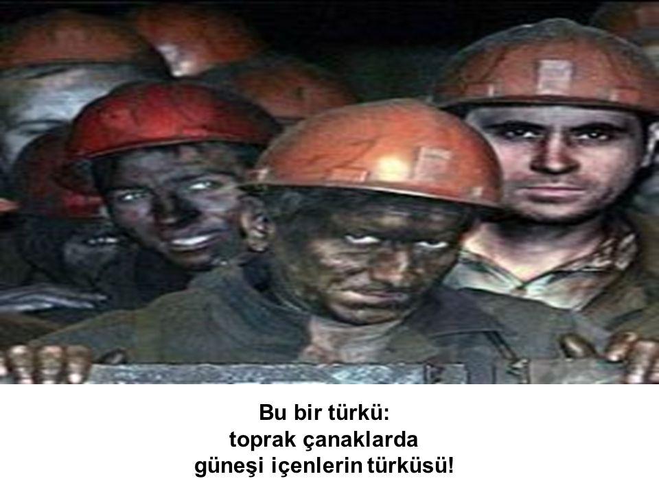 Bu bir türkü: toprak çanaklarda güneşi içenlerin türküsü!