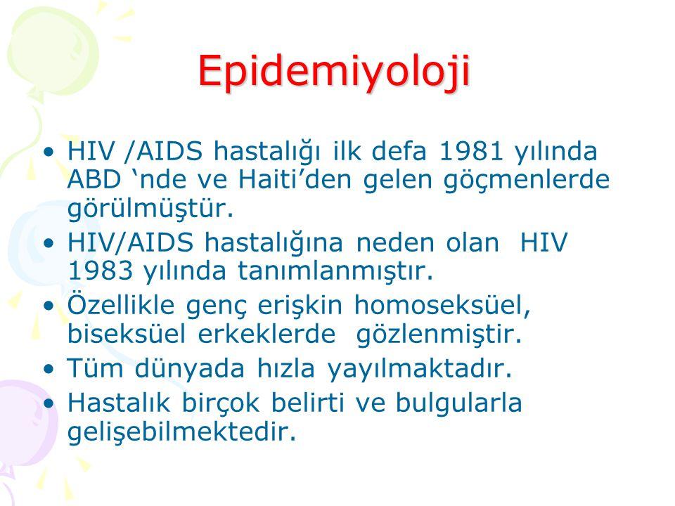 HIV /AIDS hastalığı ilk defa 1981 yılında ABD 'nde ve Haiti'den gelen göçmenlerde görülmüştür.