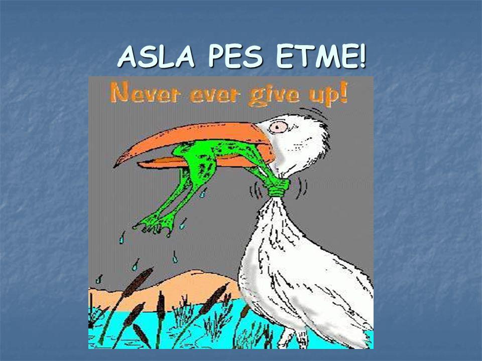 ASLA PES ETME!