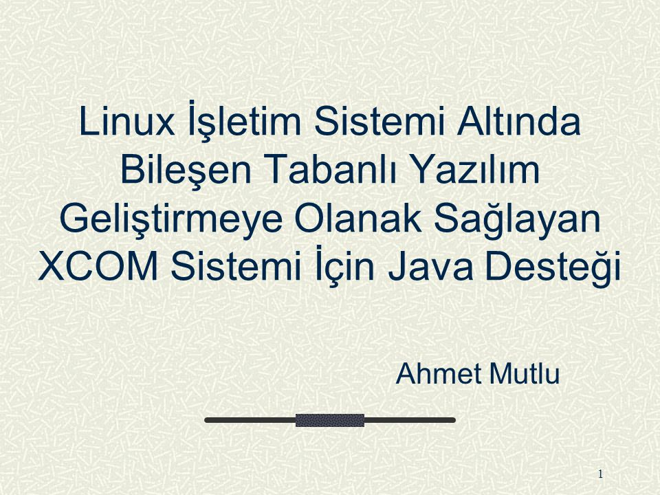 31 IDL Derleyicisi Tarafından Oluşturulan IComponent.java Arabirimi class IComponent extends IUnknown { private native int iPtr; private native int initNative() private native void toUpperNative(int iPtr,char[] c); private native int fastFindNative(int iPtr,String str,String s); public void toUpper(char[] c) { toUpperNative(iPtr,c); } public int fastFind(String str, String s) { return fastFindNative(iPtr,str,s); } static { System.loadLibrary( WrapperIComponent );}...