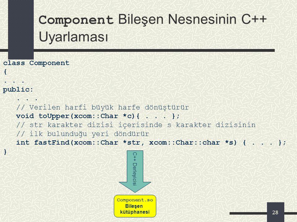 27 Geliştirilen Java – XCOM Köprüsü XCOM bileşenlerini java programcılarının kolaycakullanabilmelerini sağlayacak ara katman modelinden ve bu katmanla