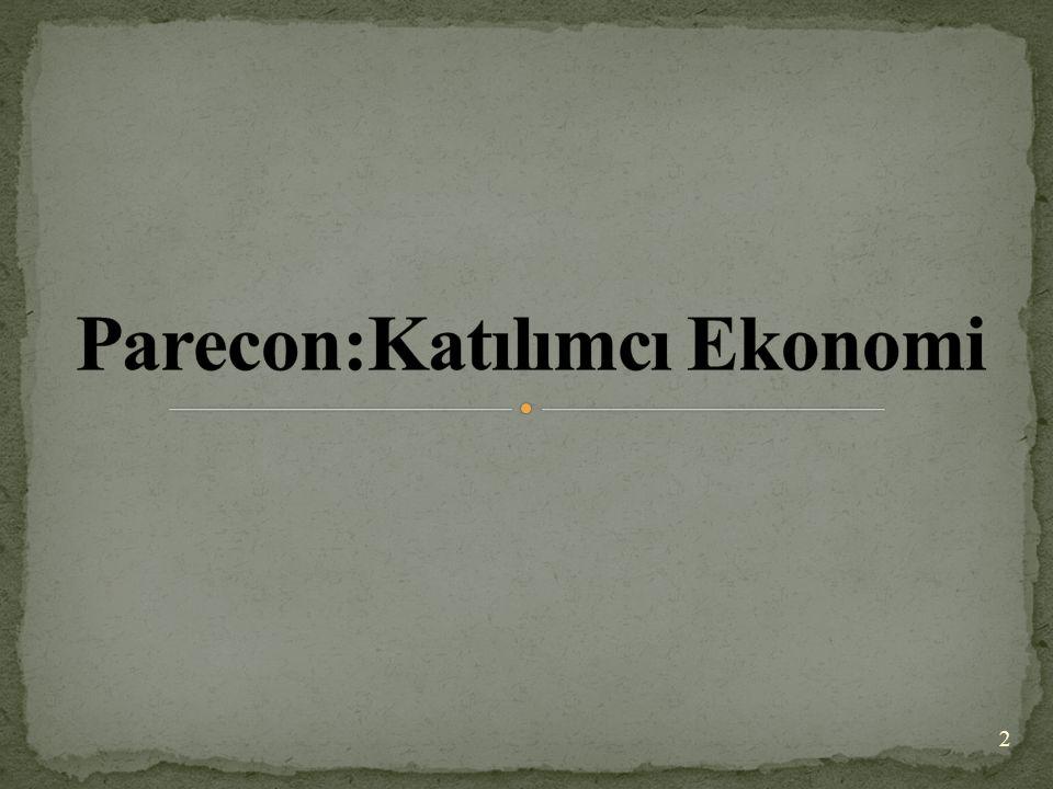 Parecon'un ikinci özelliği eşitlikçi hak ediştir.