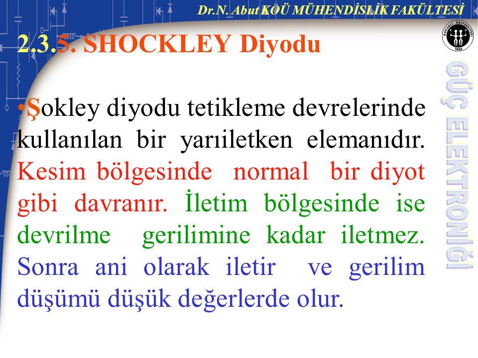 2.3.5.SHOCKLEY Diyodu Şokley diyodu tetikleme devrelerinde kullanılan bir yarıiletken elemanıdır.