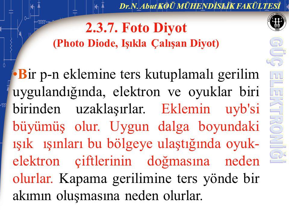 Dr.N.Abut KOÜ MÜHENDİSLİK FAKÜLTESİ 2.3.7.