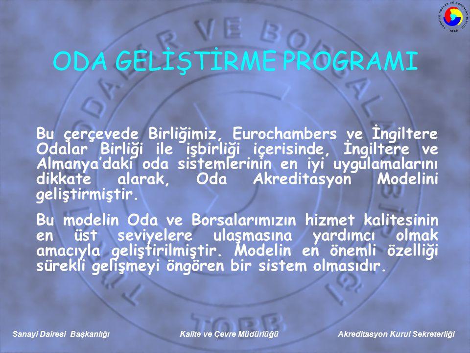 Sanayi Dairesi Başkanlığı Kalite ve Çevre Müdürlüğü Akreditasyon Kurul Sekreterliği I.