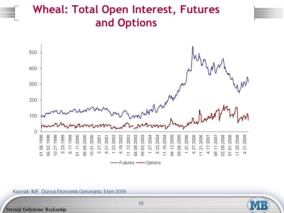 Strateji Geliştirme Başkanlığı 18 Wheal: Total Open Interest, Futures and Options Kaynak: IMF, Dünya Ekonomik Görünümü, Ekim 2009