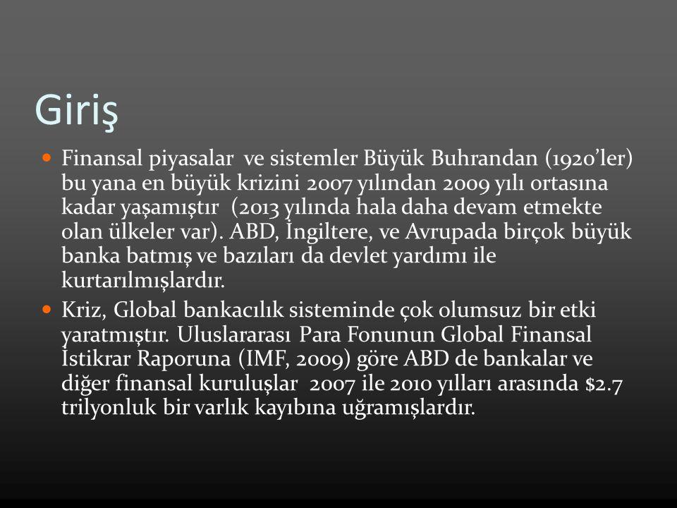 Finansal piyasalar ve sistemler Büyük Buhrandan (1920'ler) bu yana en büyük krizini 2007 yılından 2009 yılı ortasına kadar yaşamıştır (2013 yılında hala daha devam etmekte olan ülkeler var).