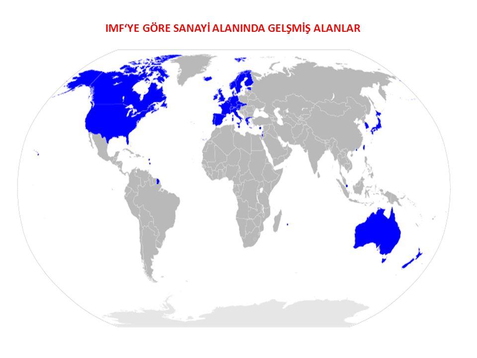 IMF'YE GÖRE SANAYİ ALANINDA GELŞMİŞ ALANLAR