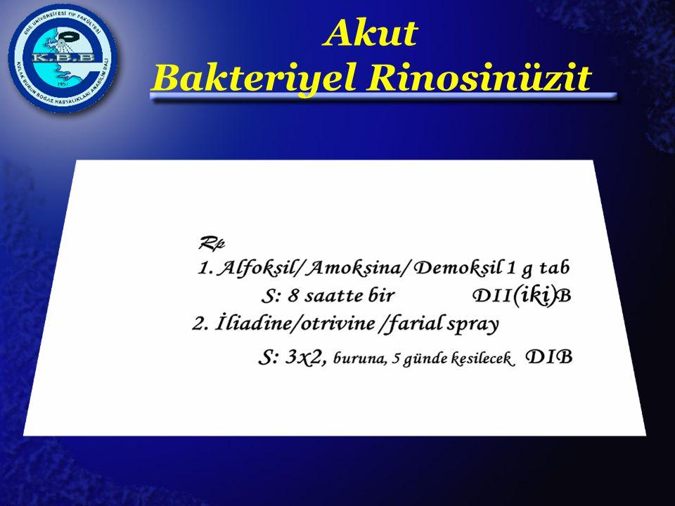 Akut Bakteriyel Rinosinüzit