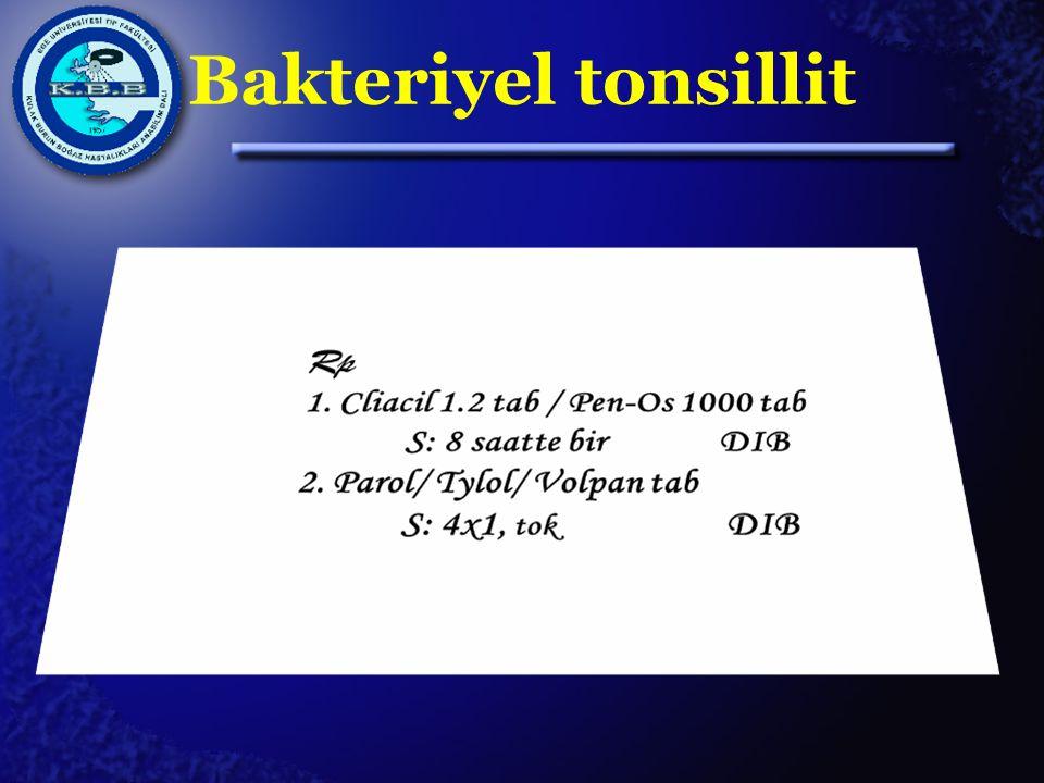 Bakteriyel tonsillit