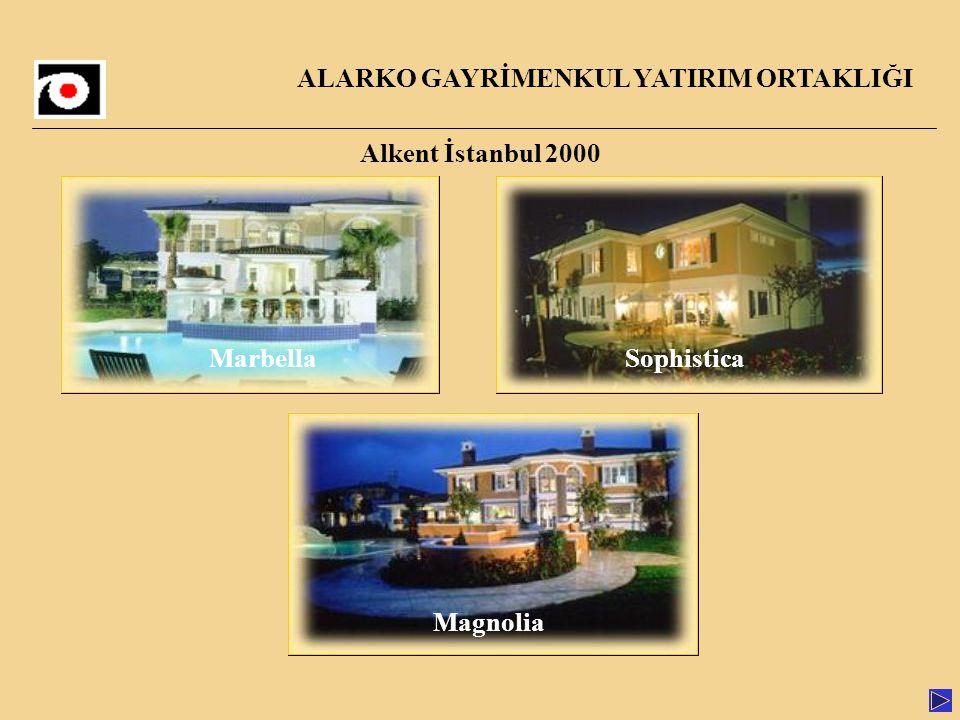 Alkent İstanbul 2000 Marbella Sophistica ALARKO GAYRİMENKUL YATIRIM ORTAKLIĞI MarbellaSophistica Magnolia