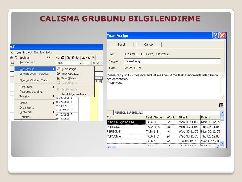 CALISMA GRUBUNU BILGILENDIRME