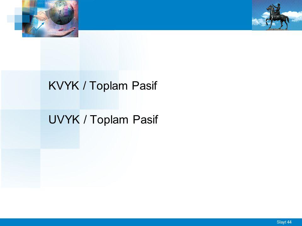 Slayt 44 KVYK / Toplam Pasif UVYK / Toplam Pasif