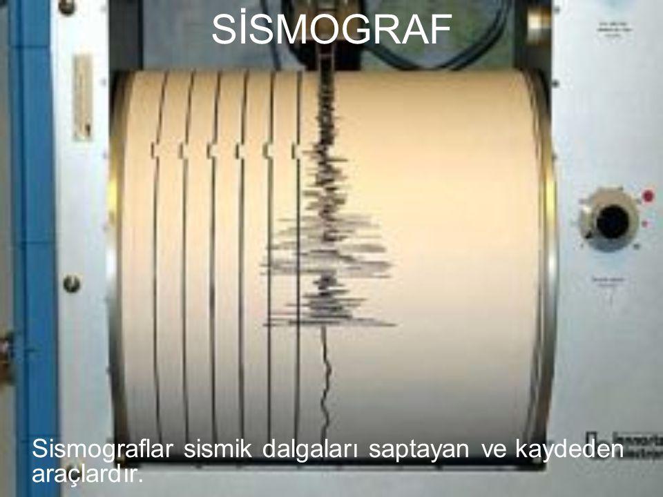 SİSMOGRAF Sismograflar sismik dalgaları saptayan ve kaydeden araçlardır.