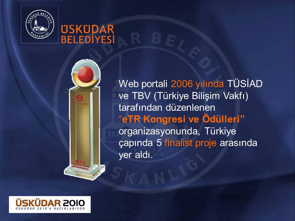 Web portali 2006 yılında TÜSİAD ve TBV (Türkiye Bilişim Vakfı) tarafından düzenlenen eTR Kongresi ve Ödülleri organizasyonunda, Türkiye çapında 5 finalist proje arasında yer aldı.