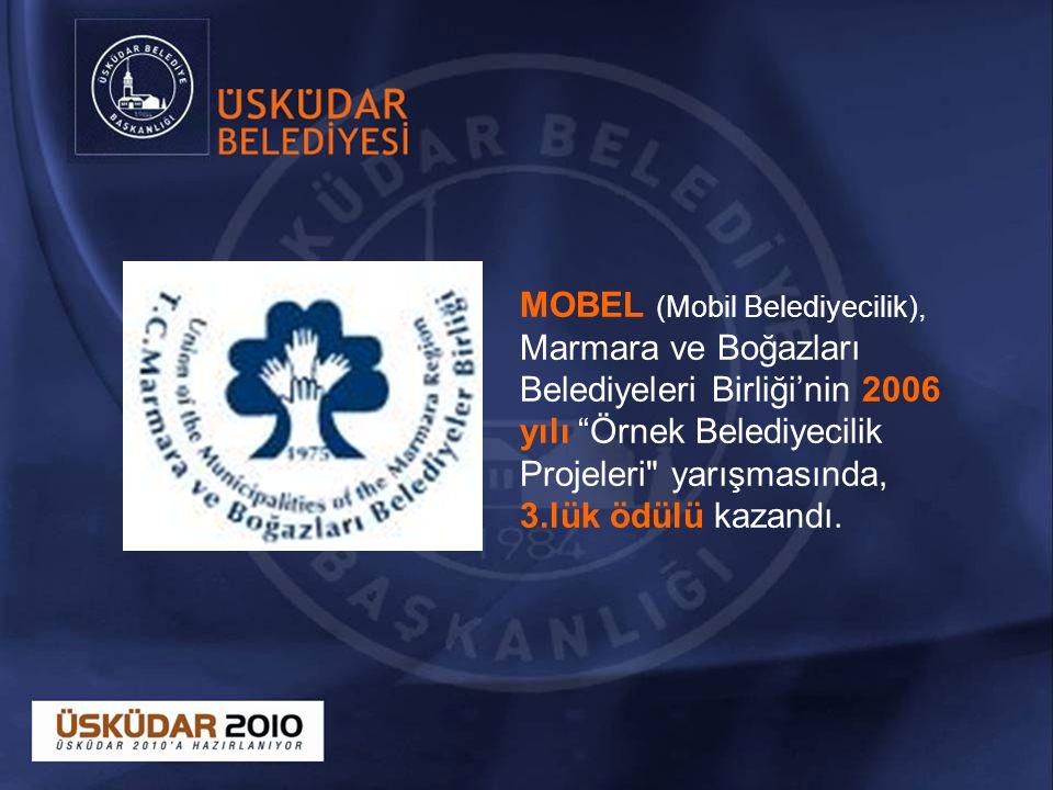 MOBEL (Mobil Belediyecilik), Marmara ve Boğazları Belediyeleri Birliği'nin 2006 yılı Örnek Belediyecilik Projeleri yarışmasında, 3.lük ödülü kazandı.