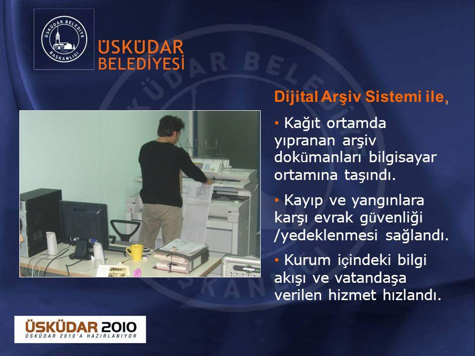 , Dijital Arşiv Sistemi ile, Kağıt ortamda yıpranan arşiv dok ü manları bilgisayar ortamına taşındı.