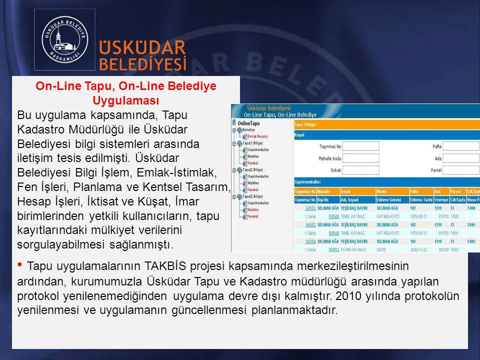 Tapu uygulamalarının TAKBİS projesi kapsamında merkezileştirilmesinin ardından, kurumumuzla Üsküdar Tapu ve Kadastro müdürlüğü arasında yapılan protokol yenilenemediğinden uygulama devre dışı kalmıştır.