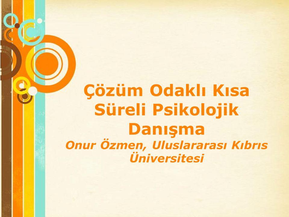 Free Powerpoint Templates Page 1 Free Powerpoint Templates Çözüm Odaklı Kısa Süreli Psikolojik Danışma Onur Özmen, Uluslararası Kıbrıs Üniversitesi