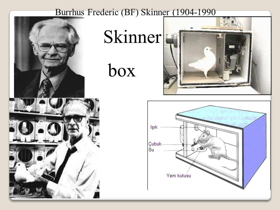 Skinner box Burrhus Frederic (BF) Skinner (1904-1990