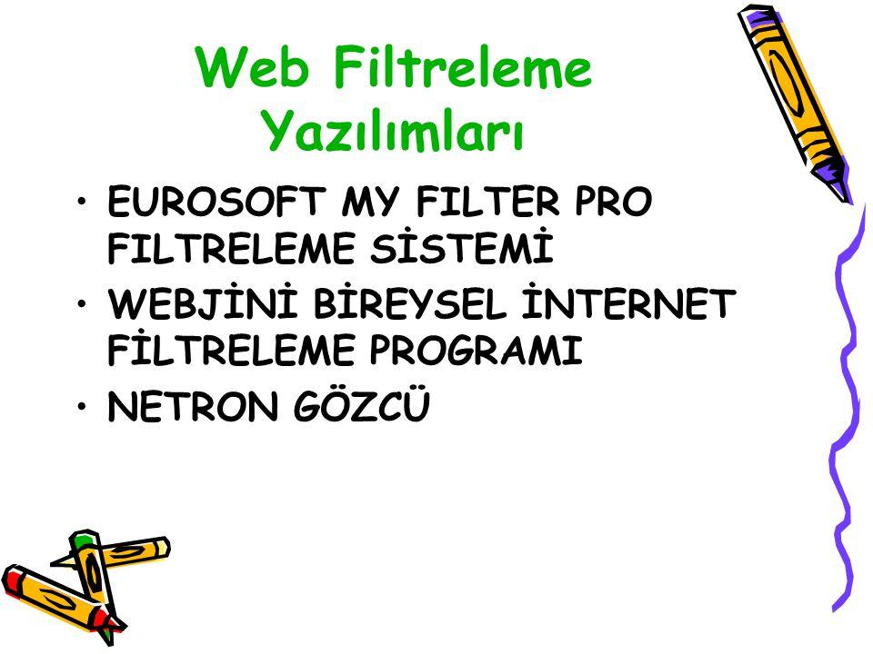 Web Filtreleme Yazılımları EUROSOFT MY FILTER PRO FILTRELEME SİSTEMİ WEBJİNİ BİREYSEL İNTERNET FİLTRELEME PROGRAMI NETRON GÖZCÜ
