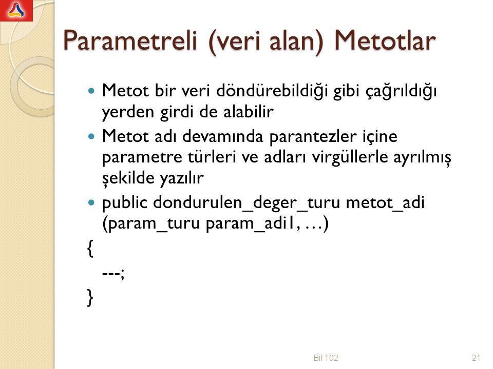 public class veriYolla { public int veriYazdir(String mesaj) { int say; System.out.println( Gelen mesaj: +mesaj); say=mesaj.length(); return say; } import java.util.Scanner; public class deneVeriYolla { public static void main(String[] args) { veriYolla veri=new veriYolla(); String ileti; int sembolSayisi; Scanner klavye = new Scanner(System.in); ileti=klavye.next(); sembolSayisi=veri.veriYazdir(ileti); System.out.println( Sembol sayisi= +sembolSayisi); } Bil 10222