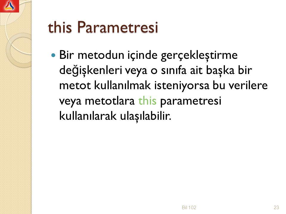 public class veriYolla2 { public String mesaj; public int veriYazdir() { int say; System.out.println( Gelen mesaj: +this.mesaj); say=mesaj.length(); return say; } import java.util.Scanner; public class deneVeriYolla { public static void main(String[] args) { veriYolla2 veri=new veriYolla2(); String ileti; int sembolSayisi; Scanner klavye = new Scanner(System.in); ileti=klavye.next(); veri.mesaj = ileti; sembolSayisi=veri.veriYazdir(); System.out.println( Sembol sayisi= +sembolSayisi); } Bil 10224