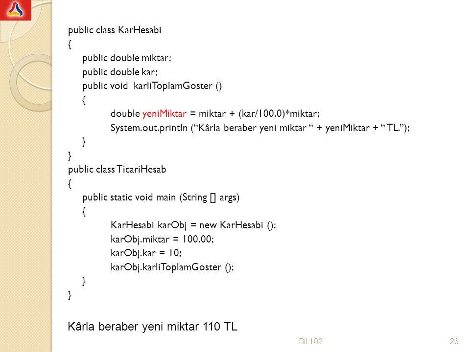 Parametrelerin Metoda Girişi Metot başlı ğ ında tanımlanan parametrelere biçimsel parametre (formal parameter) veya sadece parametre denir.