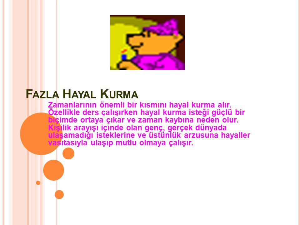 F AZLA H AYAL K URMA Zamanlarının önemli bir kısmını hayal kurma alır.