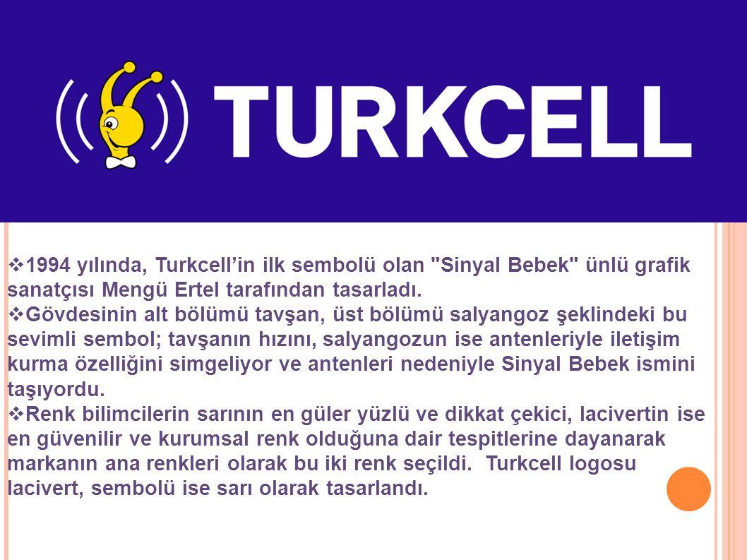  1994 yılında, Turkcell'in ilk sembolü olan