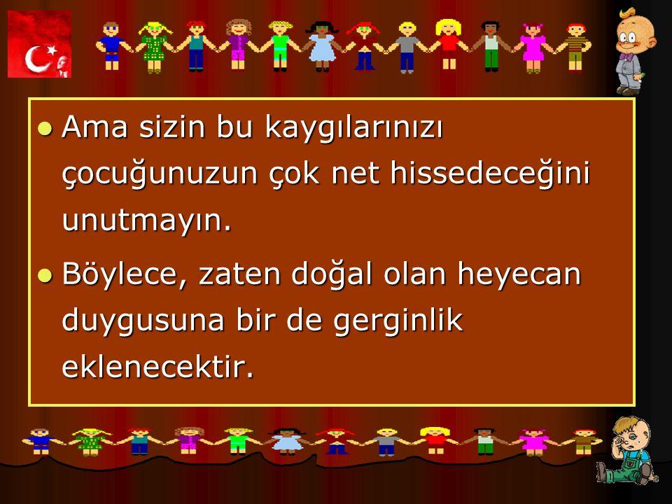 Mehmet Gürel İlköğretim Okulu Eğer çocuğunuz okulun kurallarını size sorarsa, çok genel hatları, yumuşak bir ses tonuyla ve onu ürkütmeyecek sözcüklerle anlatın.
