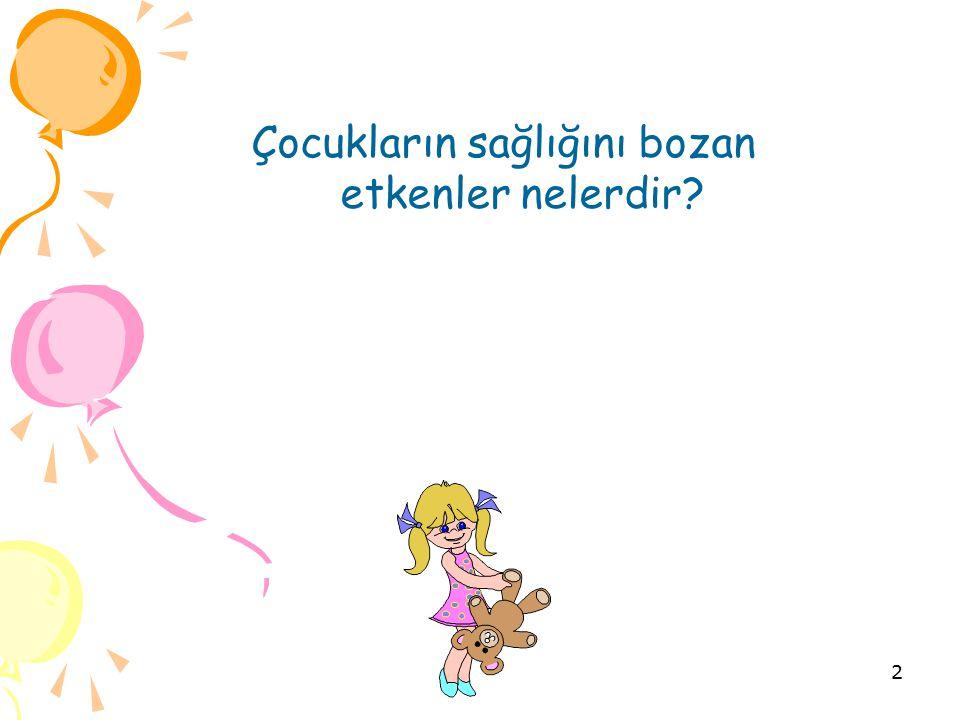 Çocukların sağlığını bozan etkenler nelerdir? 2