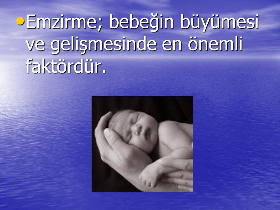 Emzirme; bebeğin büyümesi ve gelişmesinde en önemli faktördür. Emzirme; bebeğin büyümesi ve gelişmesinde en önemli faktördür.