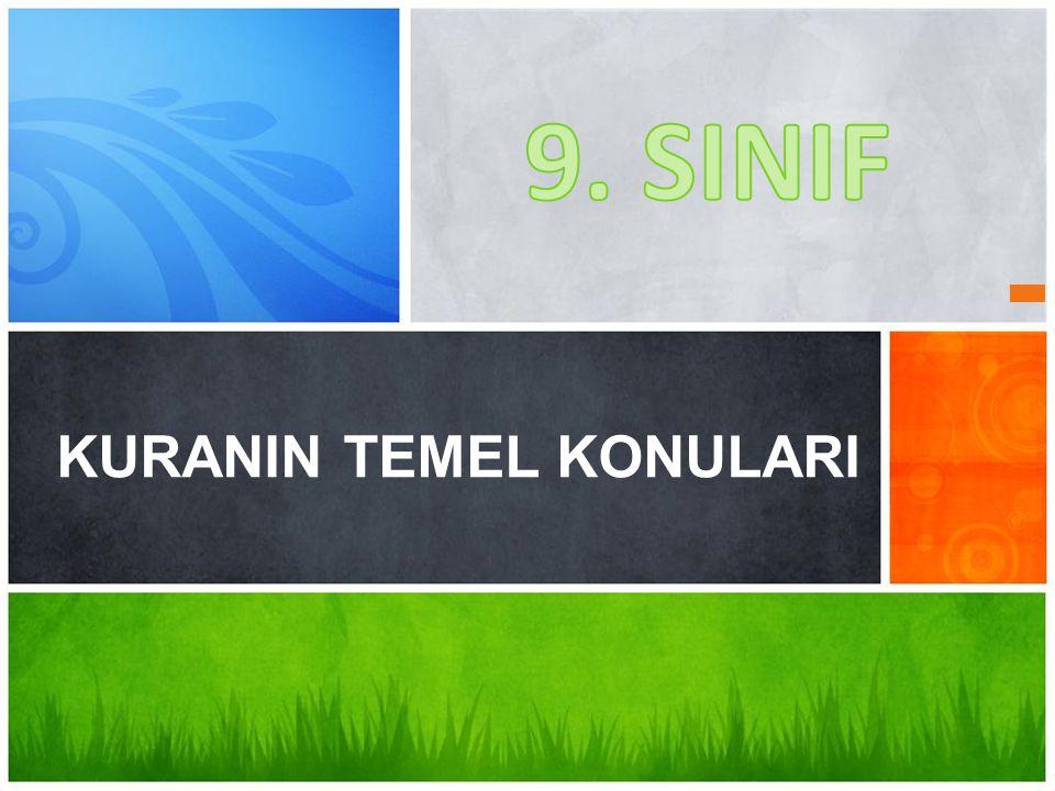 KUR'AN-I KERİM'DE NELER BULABİLİRİZ.