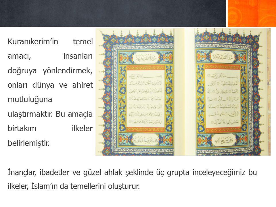 4.KUR'AN, ALLAH-EVREN İ L İ ŞK İ S İ KONUSUNDA YOL GÖSTER İ R.